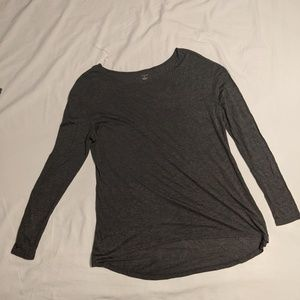 14th & Union Long Sleeve Gray Heather Charcoal Med